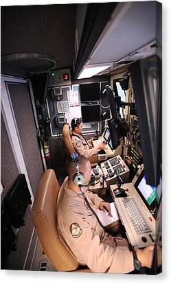 Mq-9 Reaper Ground Control Station Canvas Print