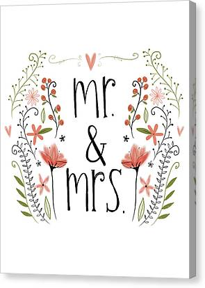 Mr. & Mrs Canvas Print by Katie Doucette