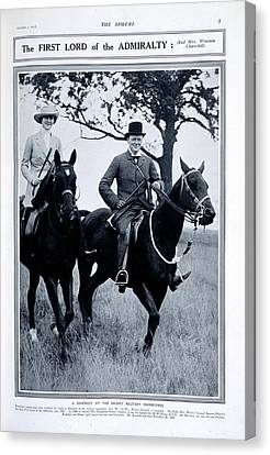Mr And Mrs Winston Churchill Canvas Print by British Library