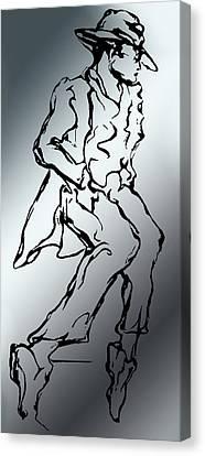 Mr. Bojangles Canvas Print by Lloyd DeBerry