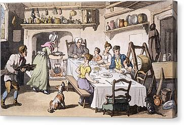 Mr Burchells First Visit, Pub Canvas Print by English School