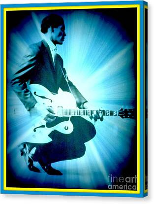 Mr Chuck Berry Blueberry Hill Style Edited 2 Canvas Print