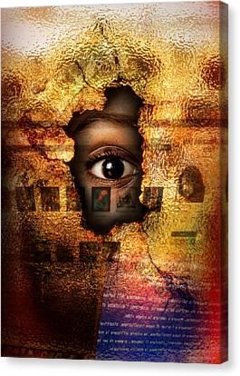 Mr C's Watching Me Canvas Print by Alessandro Della Pietra