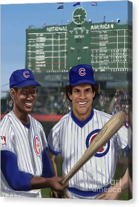 Mr. Cub And Ryno Canvas Print by Jeremy Nash