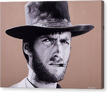 Mr. Eastwood Canvas Print by Ellen Patton