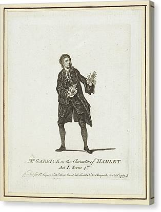 Mr Garrick In The Character Of Hamlet Canvas Print by British Library