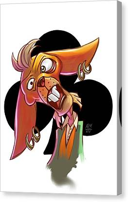 March Hare Canvas Print - Mr. Hare by Anthony Mata