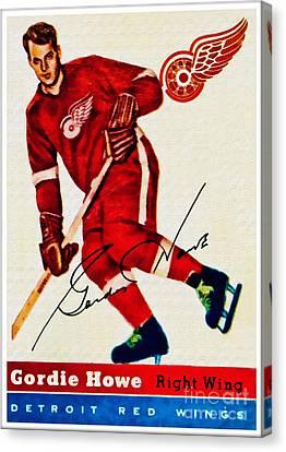 Gordie Howe Canvas Print - Mr. Hockey  by Kerry Gergen