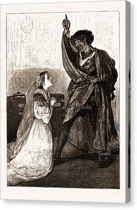 Mr. Irving And Miss Isabel Bateman In Othello At The Lyceum Canvas Print by Litz Collection