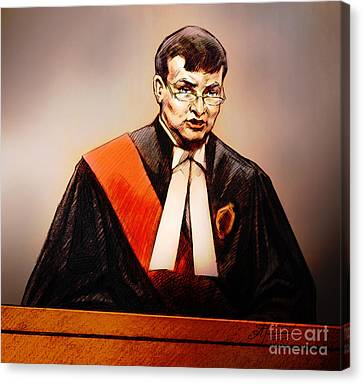 Mr. Justice Mcmahon - Judge Of The Ontario Superior Court Of Justice Canvas Print