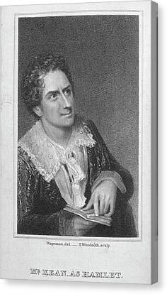 Mr. Kean As Hamlet Canvas Print by British Library