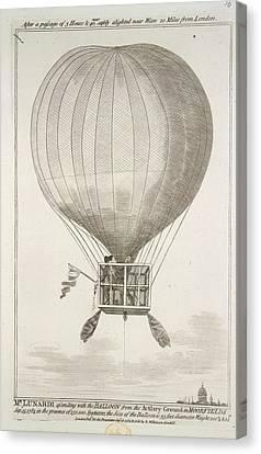 Mr. Lunardi Ascending Canvas Print by British Library