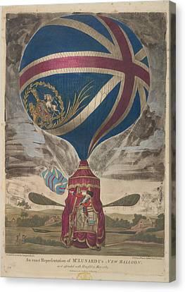 Mr. Lunardi's New Balloon Canvas Print by British Library