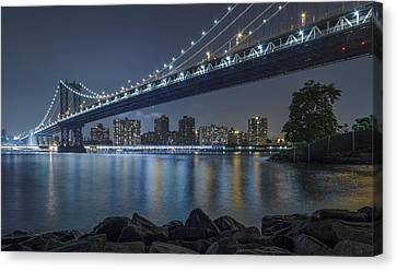 Canvas Print featuring the photograph Mr Manhattan  by Anthony Fields