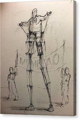 Mr. Mechanical Canvas Print by H James Hoff