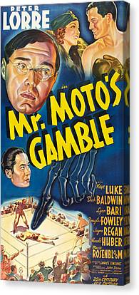 Mr. Motos Gamble, Top L-r Peter Lorre Canvas Print