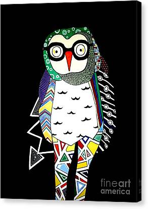 Mr. Owl Canvas Print by Amy Sorrell