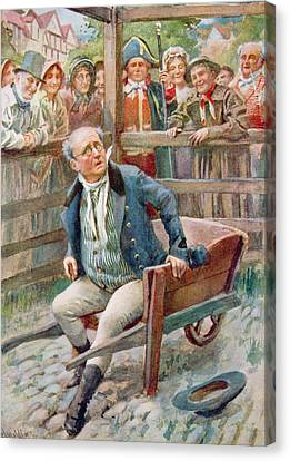 Mr Pickwick In The Pound, Illustration For Character Sketches From Dickens Compiled By B.w. Matz Canvas Print by Harold Copping