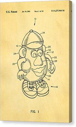 Mr Potato Head Patent Art 2001 Canvas Print