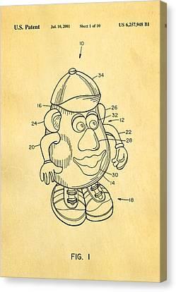 Mr Potato Head Patent Art 2001 Canvas Print by Ian Monk