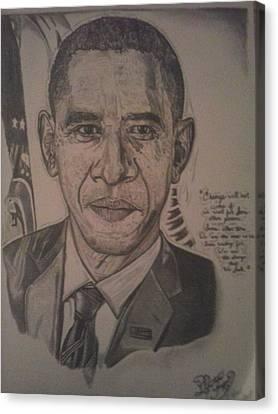 Barack Canvas Print - Mr. President by Demetrius Washington