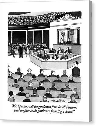 Mr. Speaker Canvas Print by J.B. Handelsman