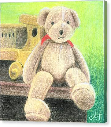 Mr Teddy Canvas Print