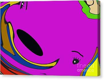 Mr.grape The Whale Canvas Print by Geraldine DeBoer