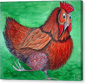 Canvas Print - Mrs Chicken by Kathy Spall