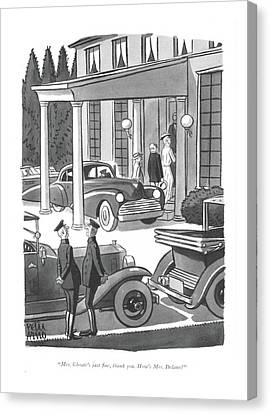 Driver Canvas Print - Mrs. Choate's Just ?ne by Peter Arno
