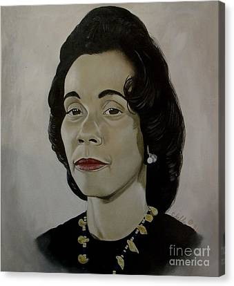 Mrs. Coretta Scott King Canvas Print