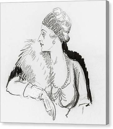 Mrs. Cornelius Vanderbilt Canvas Print