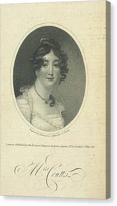 Mrs. Coutts Canvas Print by British Library