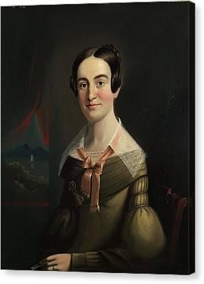 Mrs. Eunice Hall Of Portland, Maine Canvas Print by William Matthew Prior