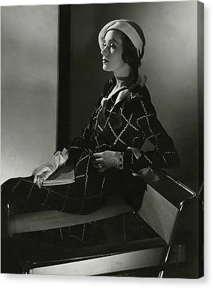 Clutch Bag Canvas Print - Mrs. Francis A. Wyman In A Crepe Dress by Edward Steichen