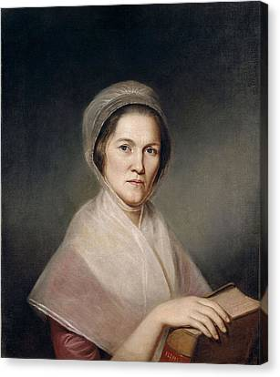Mrs. Francis Bailey, 1791 Oil On Canvas Pair To 403021 Canvas Print by Charles Willson Peale