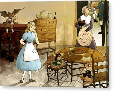 Mrs. Gage's Kitchen Canvas Print by Reynold Jay