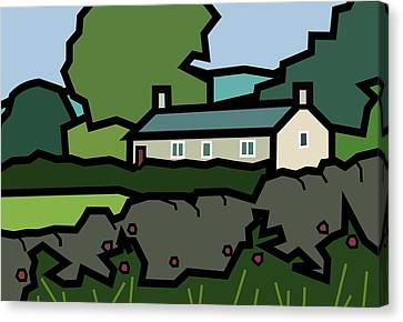 Mrs Hartly's Cottage Canvas Print by Kenneth North