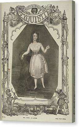 Mrs. Honey Canvas Print by British Library
