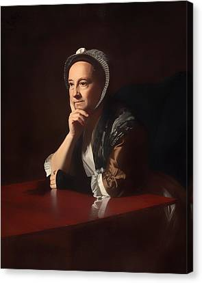 Chin On Hand Canvas Print - Mrs Humphrey Devereaux  by Mountain Dreams