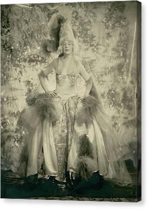 Full Skirt Canvas Print - Mrs. J. Philip Benkard Wearing A Hoop Skirt by Edward Steichen