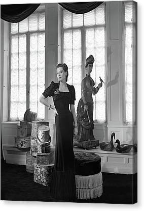 Natasha Canvas Print - Mrs. John C. Wilson Wearing A Dinner Dress by Horst P. Horst