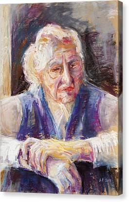 Mrs K. Remembering Canvas Print by Barbara Pommerenke