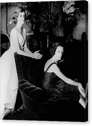 Dolores Canvas Print - Mrs. Loel Guinness And Her Daughter by Henry Clarke