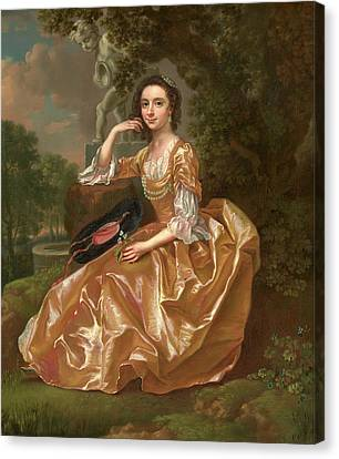 Mrs. Mary Chauncey A Young Woman Signed And Dated In Yellow Canvas Print by Litz Collection