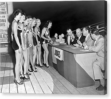 Mrs. New Jersey Contestants Canvas Print by Underwood Archives