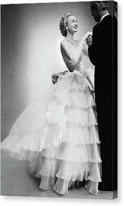 Ball Gown Canvas Print - Mrs William H Mcmanus by Roger Prigent