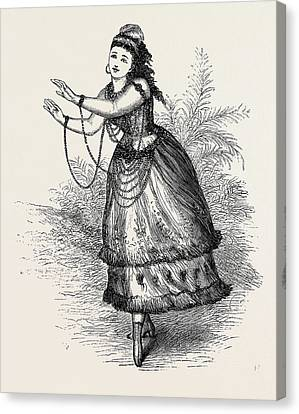 Mrs. Wood As Pocahontas In La Belle Sauvage Canvas Print
