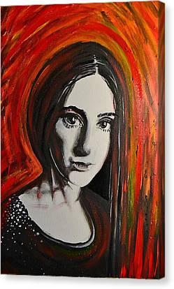 Portrait In Black #x Canvas Print