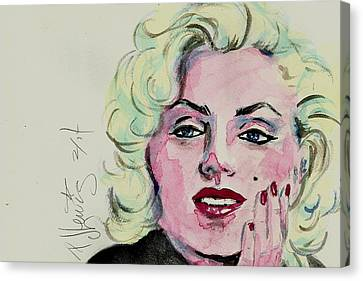 Ms Monroe Canvas Print by P J Lewis